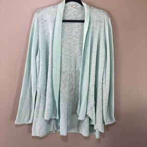Eileen Fisher linen blue cardigan XL